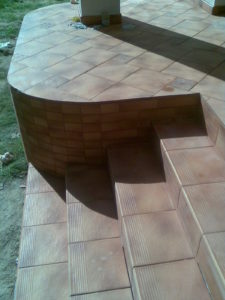 Облицовка террасы клинкерной плиткой